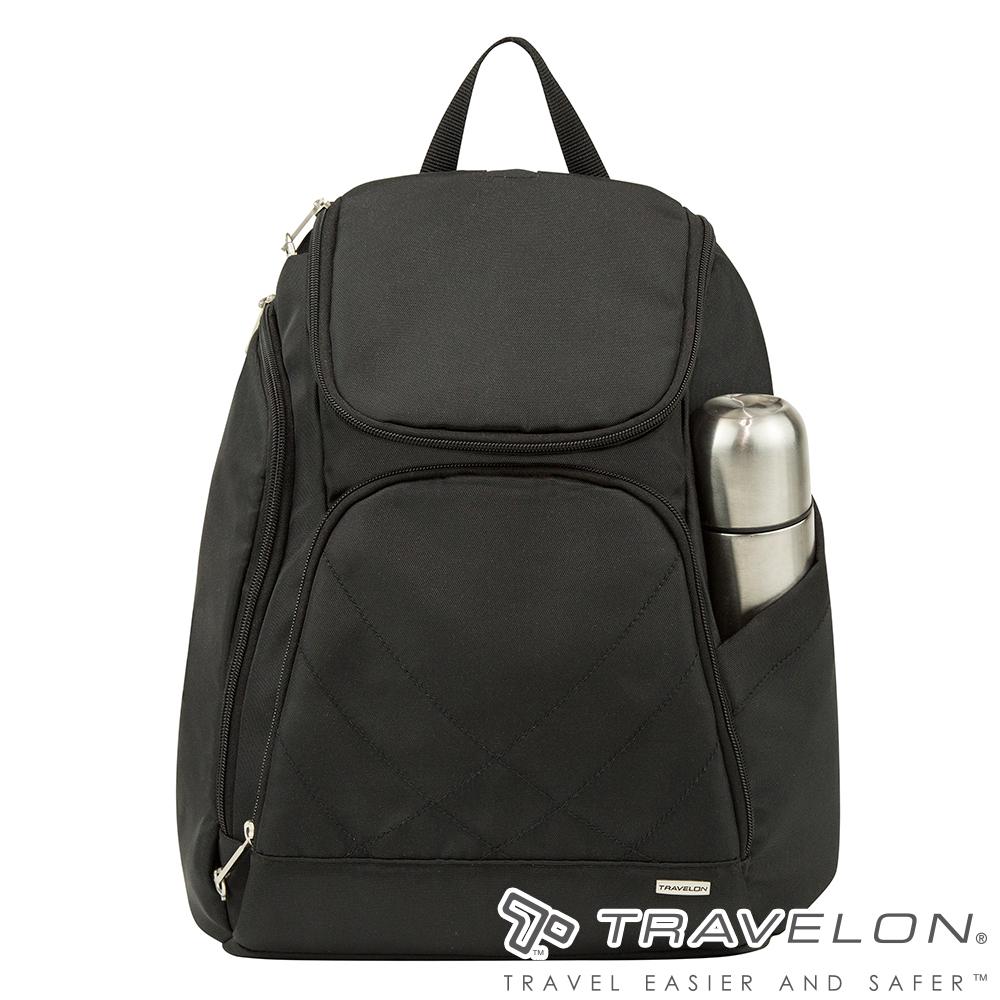 Travelon美國防盜包 簡單素面風格經典雙肩後背包(TL-42310-15 黑)