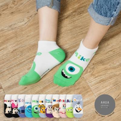 阿華有事嗎  韓國襪子 彩色名字迪士尼短襪  韓妞必備 正韓百搭純棉襪