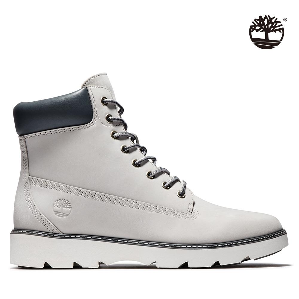 Timberland 女款淺灰色磨砂革休閒中筒靴|A26JM
