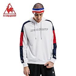 le coq sportif 法國公雞牌長袖連帽T恤 男-白