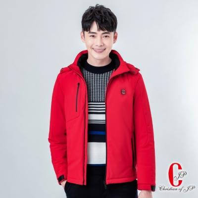 Christian  抗寒帽可拆舖棉外套_紅(KW809-18)