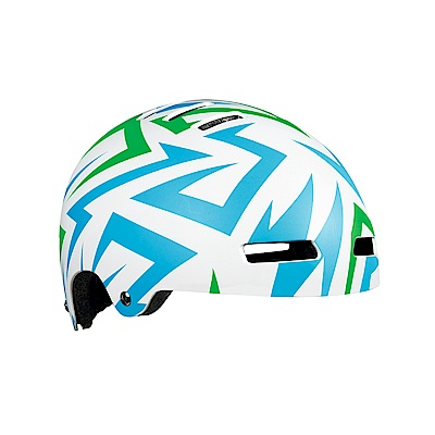 【LAZER】Street JR 兒童用安全帽 藍綠閃電