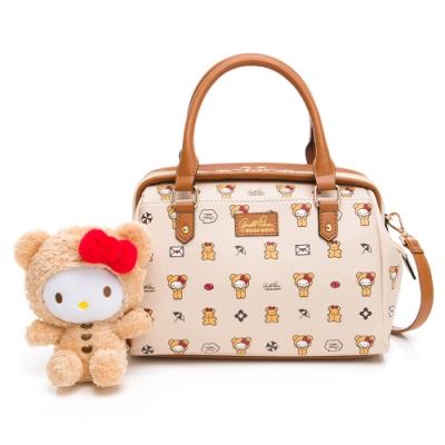 Hello Kitty聯名- 手提包附長背帶 SPOIL / 熊愛你系列-咖色