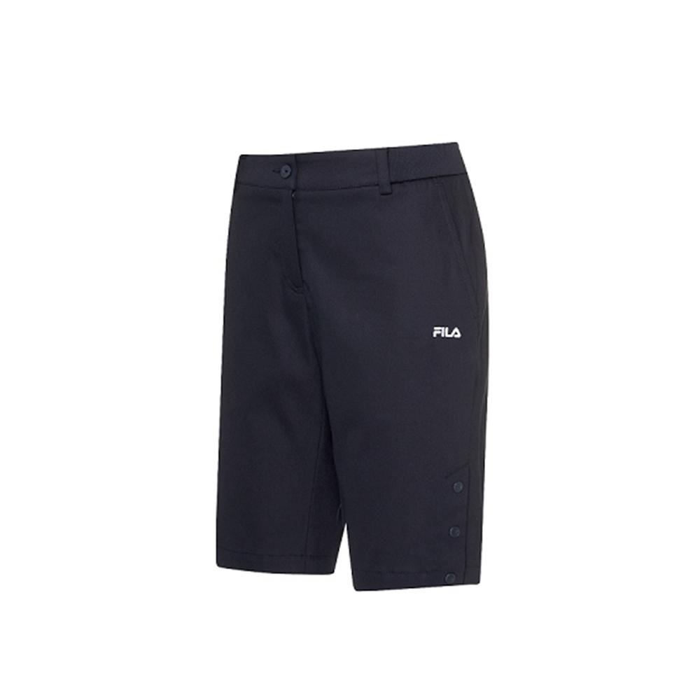 FILA 女平織短褲-丈青 5SHV-1488-NV