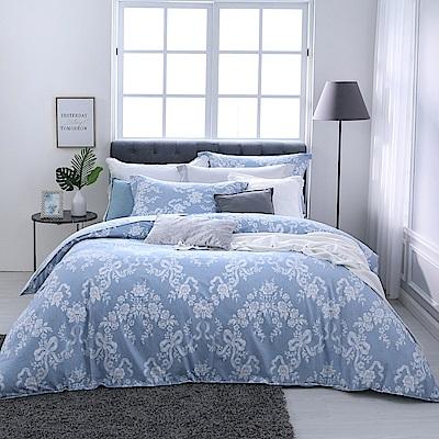 BBL Premium 水漾玫瑰100%精梳棉印花兩用被床包組(特大)