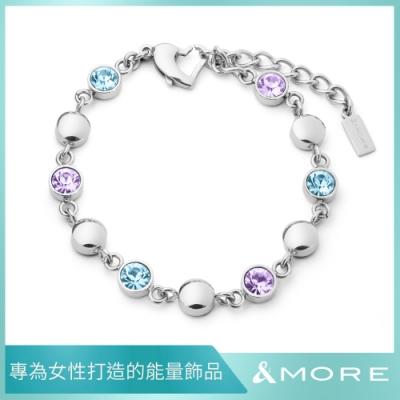 &MORE 愛迪莫 健康手鍊 GALAXY shining 星河 湛藍紫 (鍺 遠紅外線 負離子.禮盒包裝)
