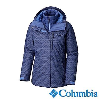 Columbia哥倫比亞 女款-Omni-HEAT鋁點保暖防水兩件式化纖外套-紫色