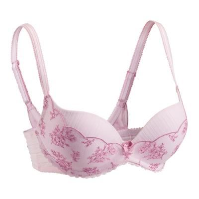 黛安芬-記憶枕曲線無鋼圈零壓版 B-C罩杯內衣 清甜粉紅