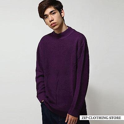 中高領針織針織衫(15色) ZIP日本男裝