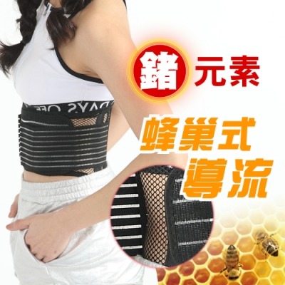 【JS嚴選】鍺元素蜂巢式導流網體雕帶(加碼送CC膝腕)