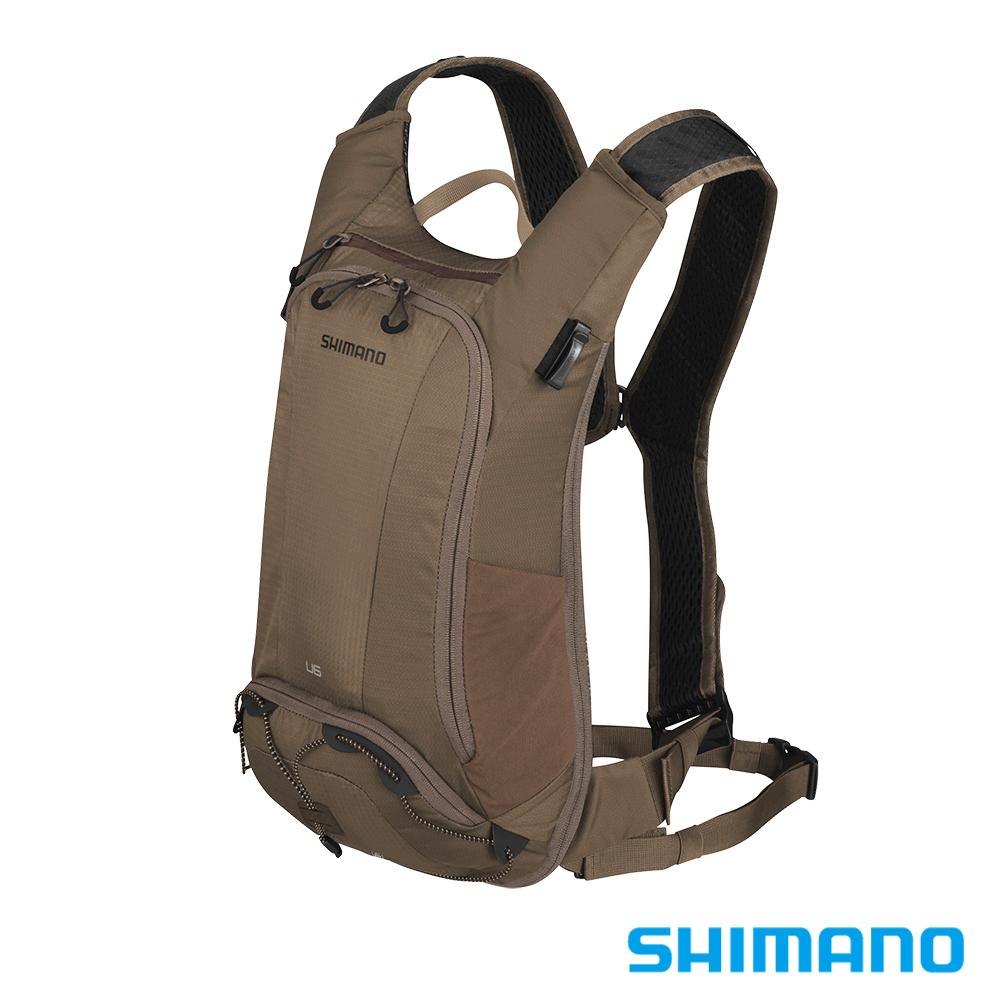 SHIMANO UNZEN 登山車後背包-無水袋 6L 大地棕