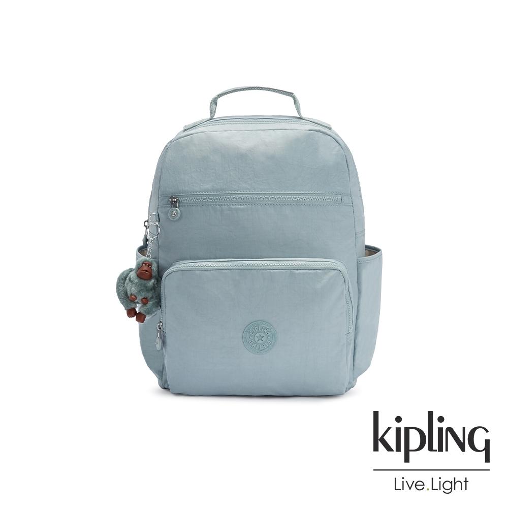 Kipling 迷霧石灰藍大容量媽媽包-SO BABY