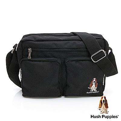 Hush Puppies 百搭斜背包-黑色