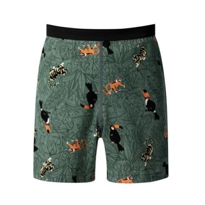 DADADO 熱帶森林 110-130男童內褲(綠) 品牌推薦 舒適寬鬆 四角男褲