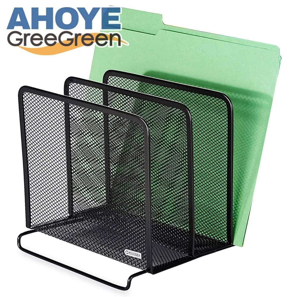Ahoye 鐵製三層桌面文件架