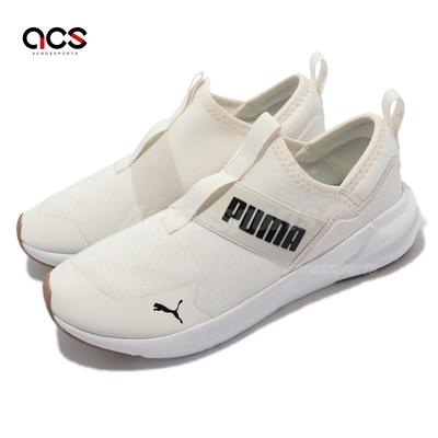 Puma 訓練鞋 Platinum Alt Neutral 女鞋 健身 柔軟 襪套式 包覆 抓地耐磨 褐 黑 195259-02