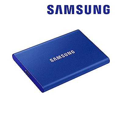 SAMSUNG 三星T7 1TB USB 3.2 Gen 2移動固態硬碟 靛藍 (MU-PC1T0H/WW)