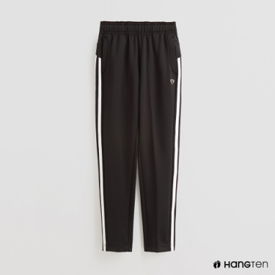 Hang Ten - 童裝 -ThermoContro-素面腰部鬆緊休閒長褲-黑