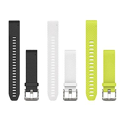 GARMIN 矽膠錶帶QUICKFIT 20mm 矽膠錶帶 加長版