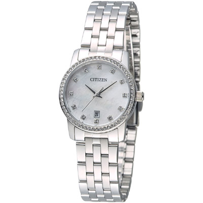 CITIZEN 閃耀年代時尚女錶-珍珠貝母(EU6030-56D)/22mm