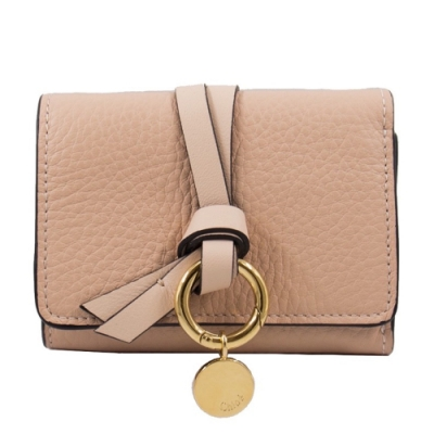 Chloe 迷你 三摺短夾 (裸粉色) 牛皮 Alphabet Mini Tri-fold Wallet blush nude