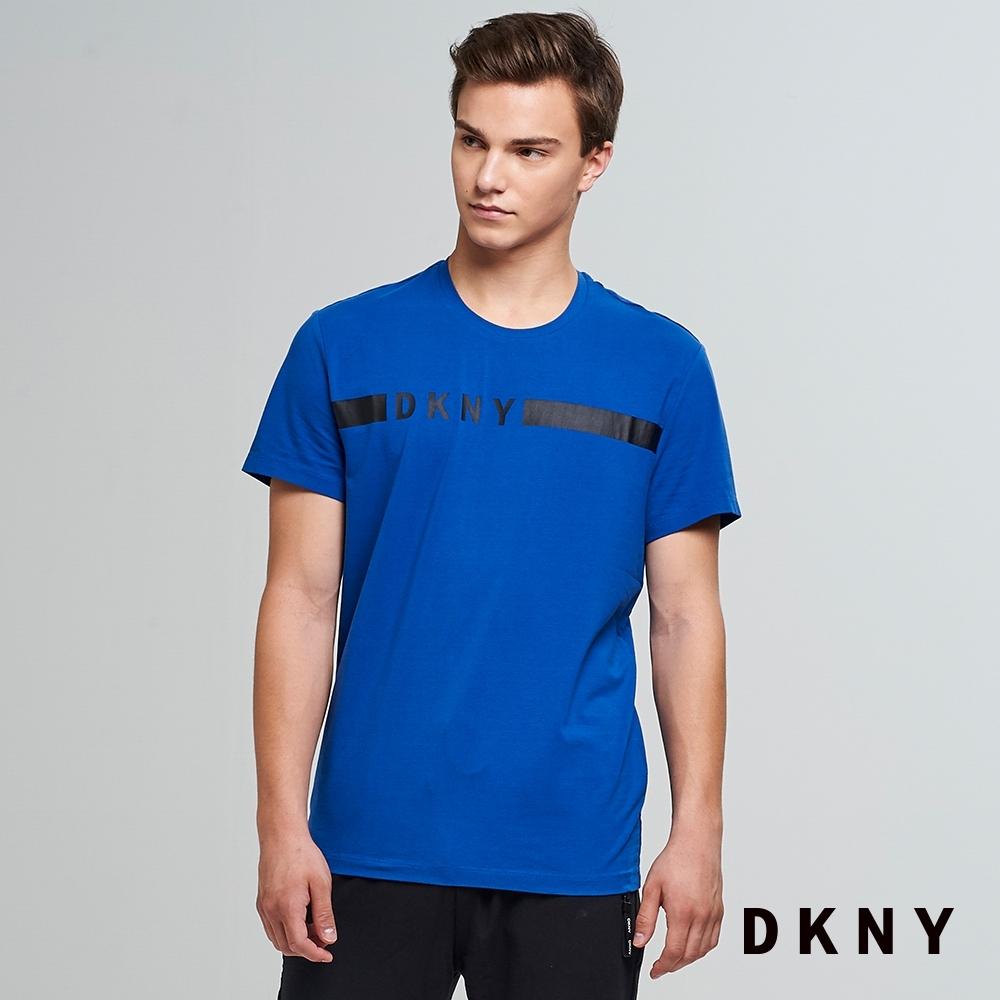 DKNY 男款 圓領LOGO純棉T恤 藍