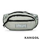 KANGOL LIBERTY系列 韓版潮流LOGO背帶腰包-淺灰 KG1191