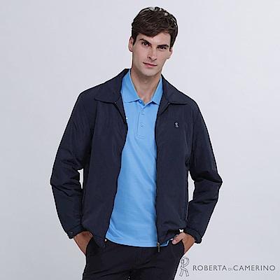 ROBERTA諾貝達 簡約百搭 絨面內裡夾克外套 深藍