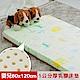 【米夢家居】 夢想家園-冬夏兩用馬來西亞進口100%天然乳膠嬰兒床墊-青春綠60X120 product thumbnail 1