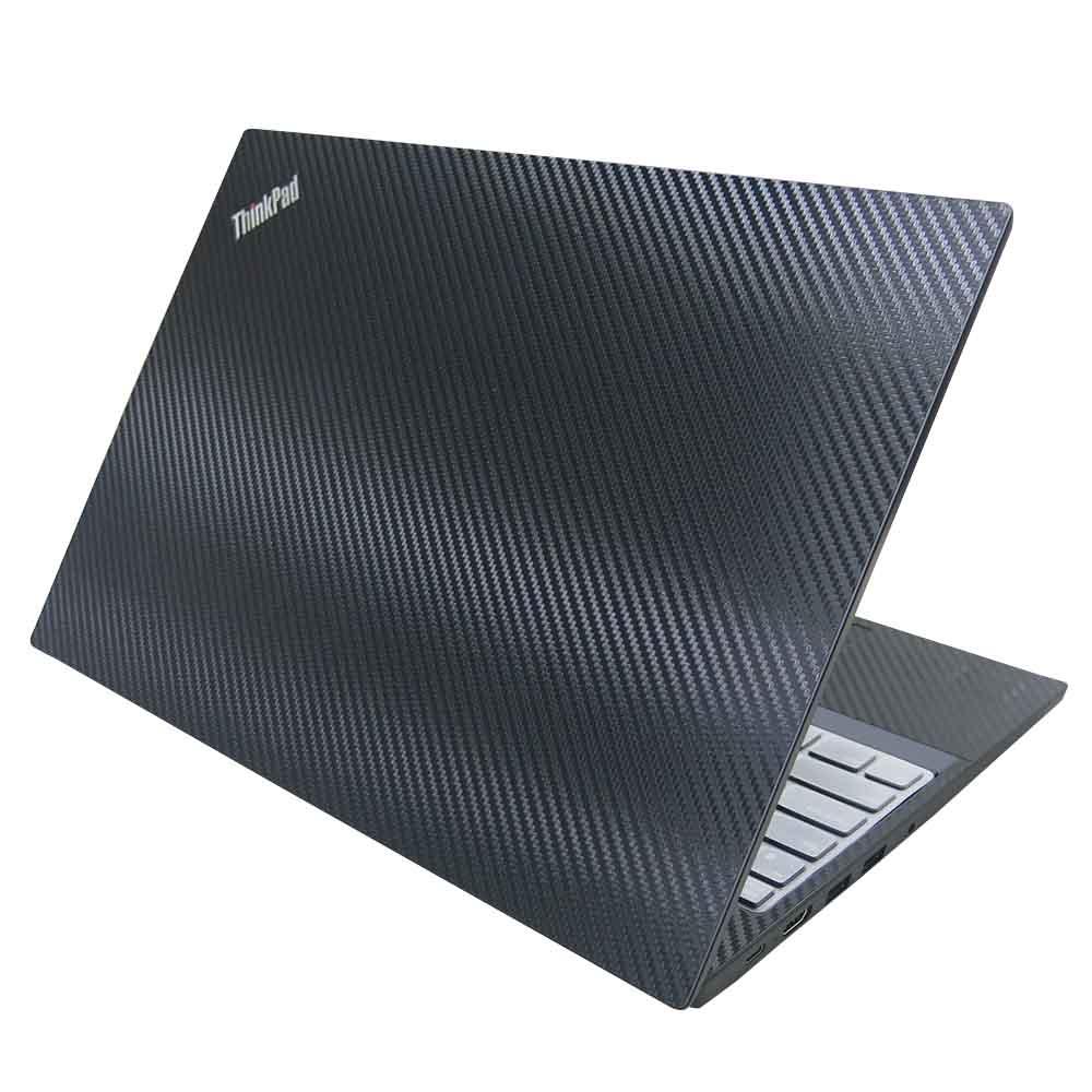 EZstick Lenovo ThinkPad E590 黑色 Carbon 立體紋機身貼