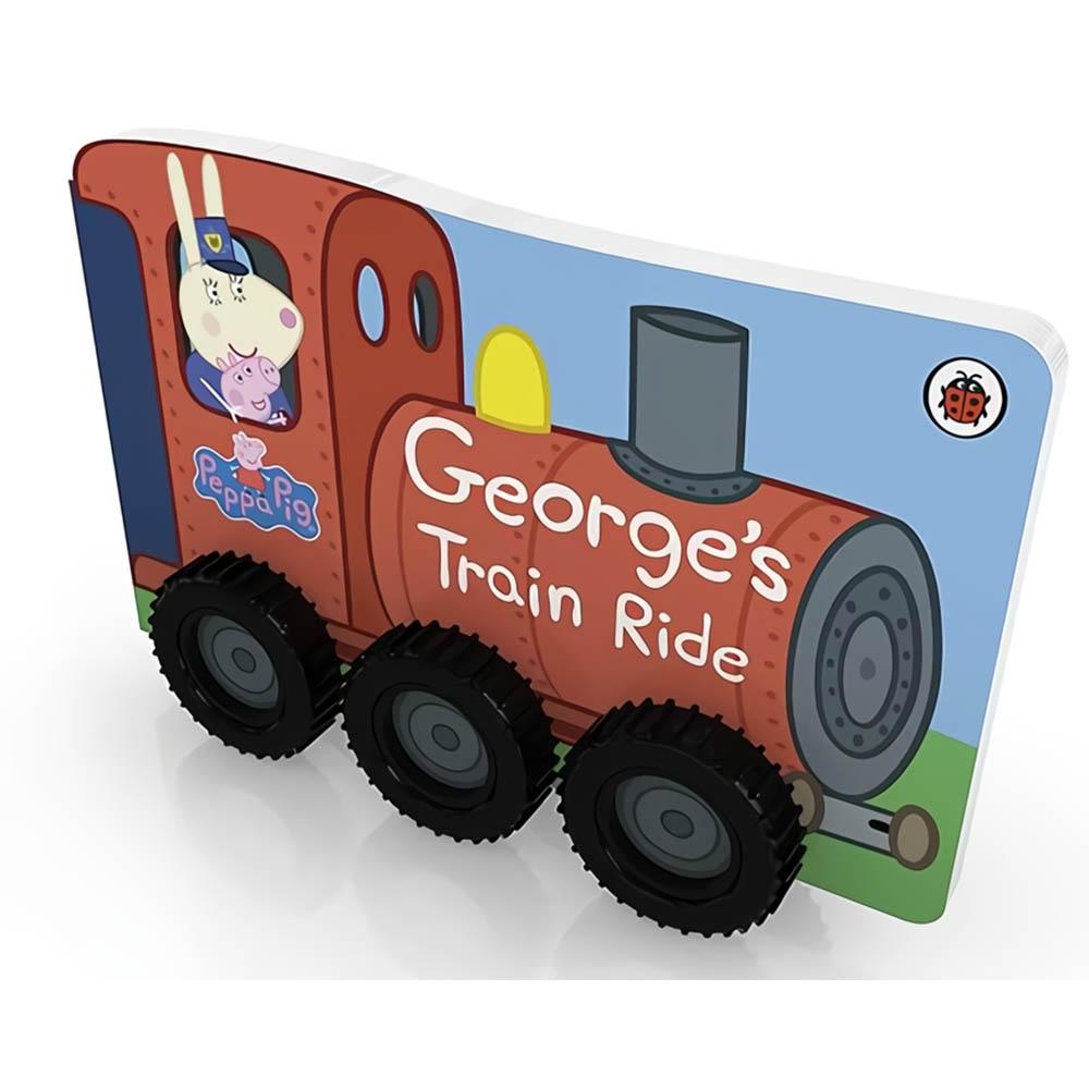 Peppa Pig:George's Train Ride 喬治豬的火車行輪子轉轉硬頁書