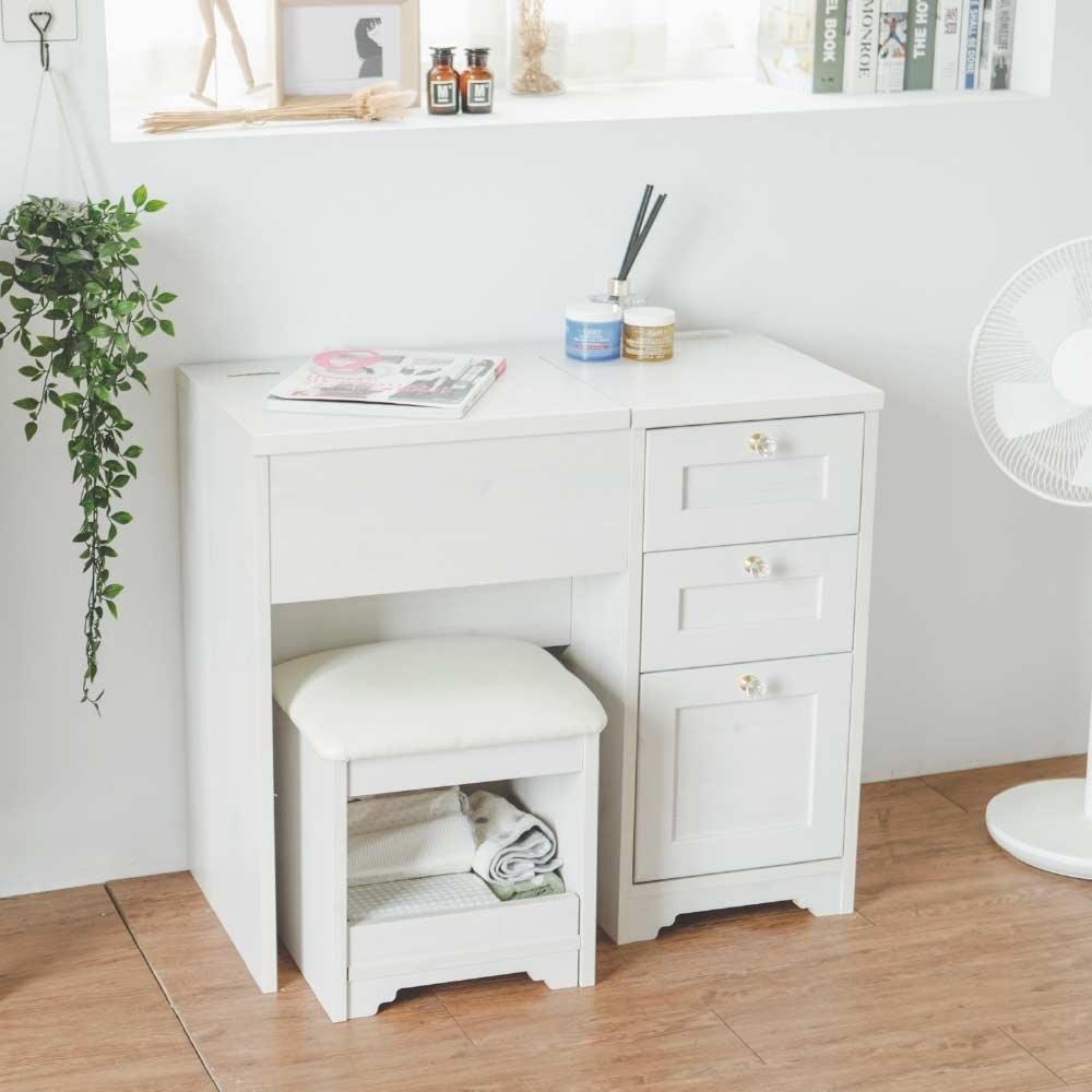 完美主義 掀鏡化妝桌椅組/書桌-80X40X100(2色)