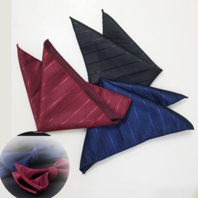 Laifuu拉福,寬斜紋西裝口袋巾裝飾新郎宴會(多色)