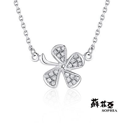 蘇菲亞 SOPHIA - 幸運草愛情系列0.07克拉鑽石套鍊