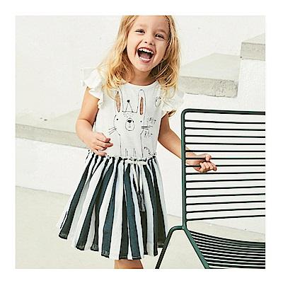 女童 中小童歐美卡通Q版純棉連身裙
