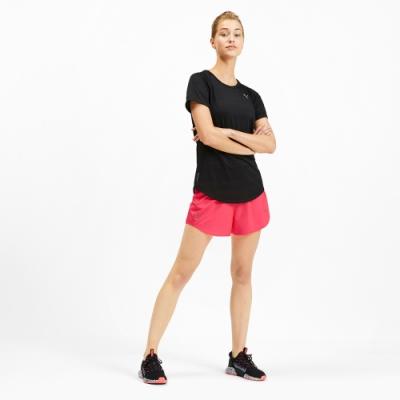 PUMA-女性慢跑系列4吋短風褲-警示粉-歐規