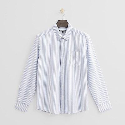 Hang Ten - 男裝 - 經典條紋襯衫-藍色