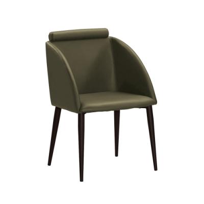 H&D 1古巴克綠色皮餐椅