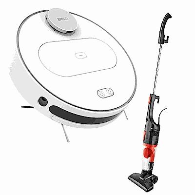 360智慧掃地機器人 送德律風根直立式吸塵器