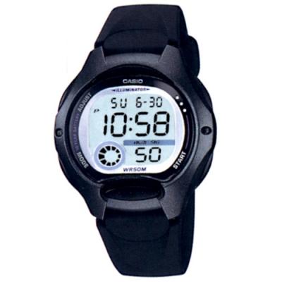 CASIO 超時空玩家電子運動錶-黑帶x黑框(LW-200-1B)/37.9mm