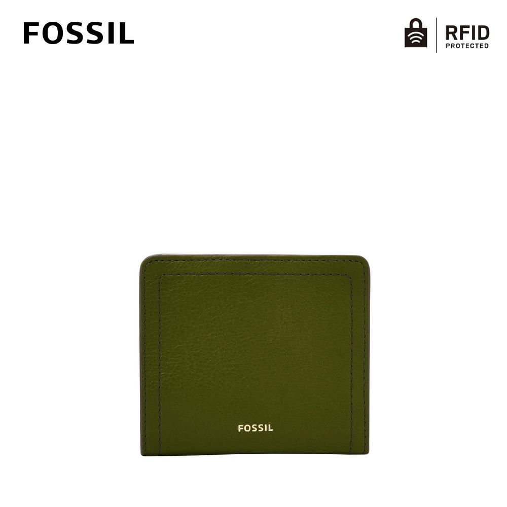 FOSSIL Logan 真皮RFID防盜短夾-橄欖綠 SL7829311