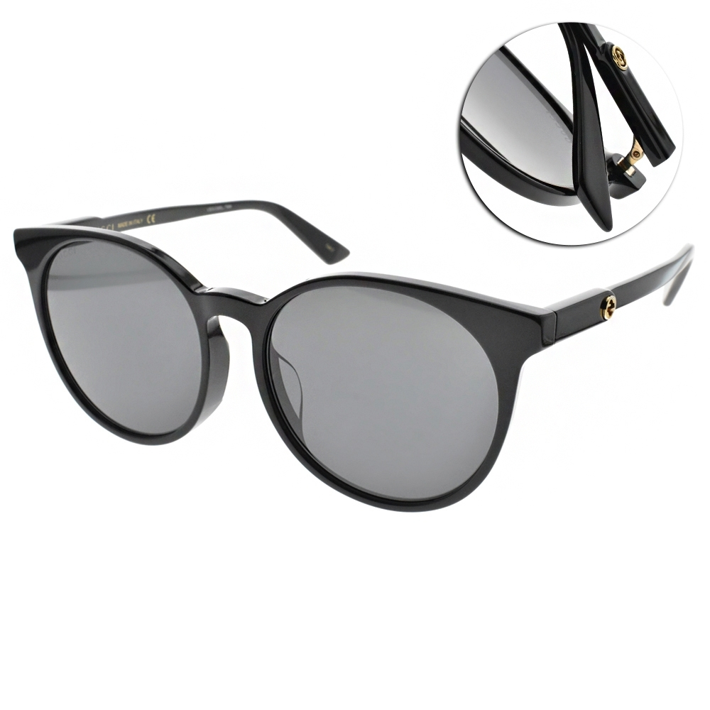 GUCCI  太陽眼鏡 質感貓眼款/黑-灰藍 #GG0488SA 001