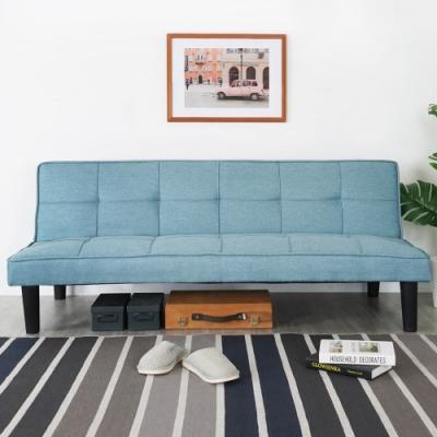 Homelike 凱樂亞麻布沙發床-天空藍