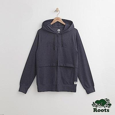 Roots 男裝-舍布魯克連帽外套-藍色
