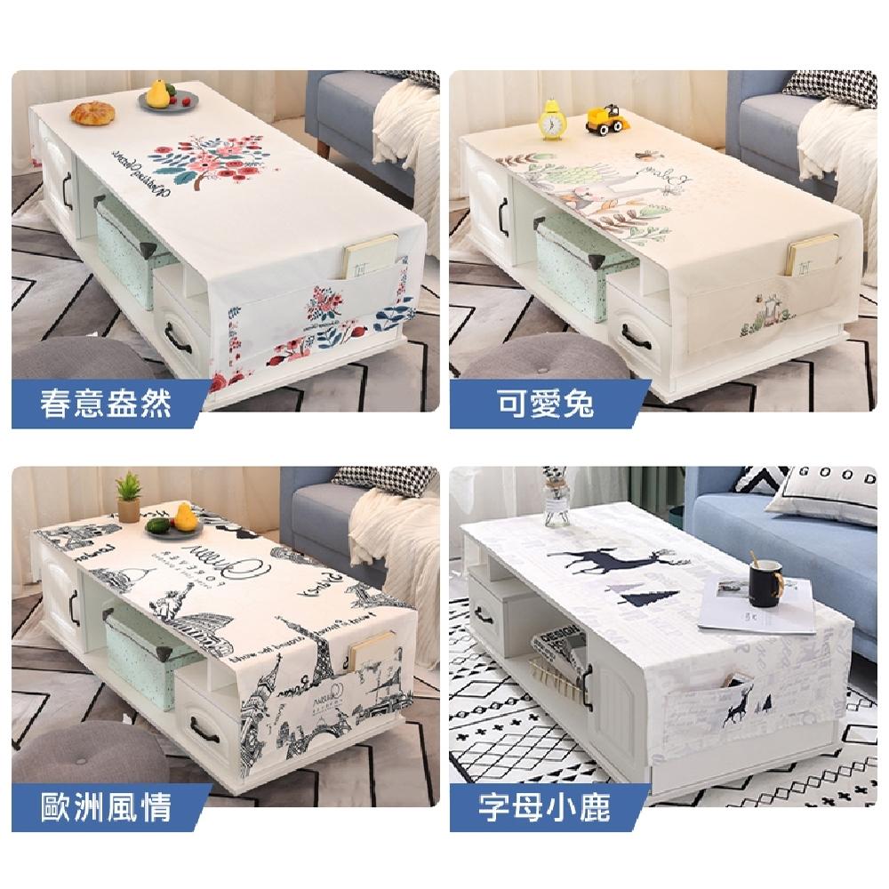【歐達家居】長方形防塵收納蓋布桌墊(防潑水/桌布/餐桌/客廳/收納)