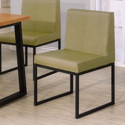 H&D 威爾斯黑腳綠色皮餐椅