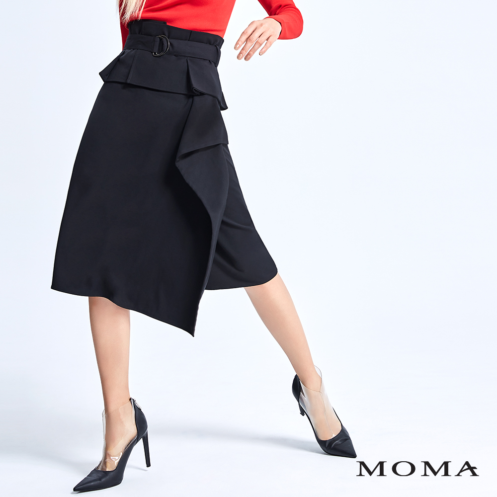 MOMA 寬腰封綁帶層次裙