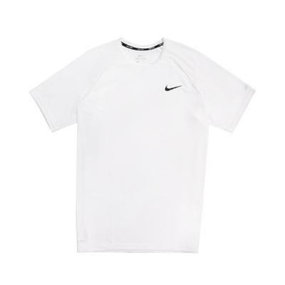 Nike T恤 Essential Hydroguard 男款 運動休閒 短T 基本款 圓領 穿搭 防曬衣 白 黑 NESSA586100