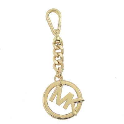 MICHAEL KORS KEY CHARMS圓型LOGO鑰匙圈吊飾(金色)