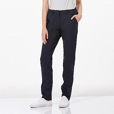 【HAKERS 哈克士】女 抗UV快乾彈性修身長褲-深軍藍